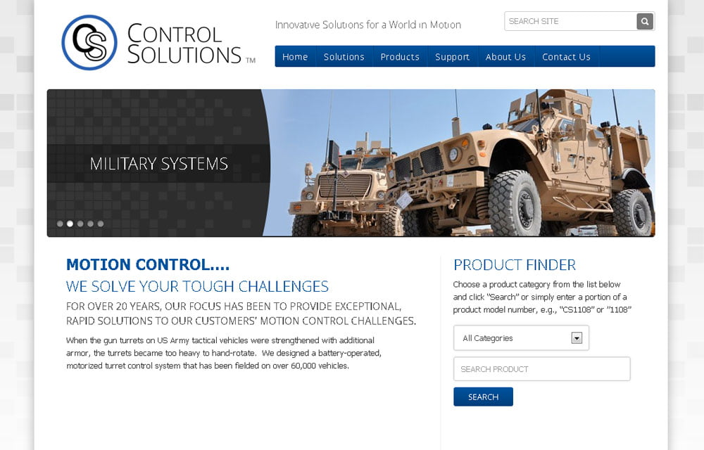 Control Solutions Website