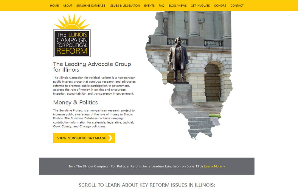 Illinois Campaign for Political Reform Website