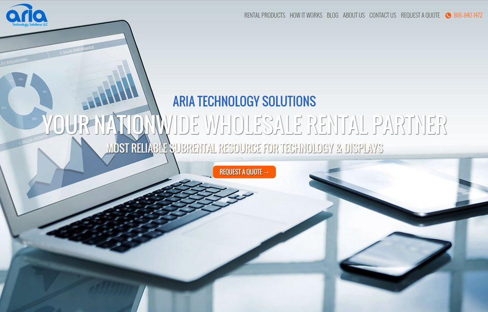 Aria Technology Solutions Website