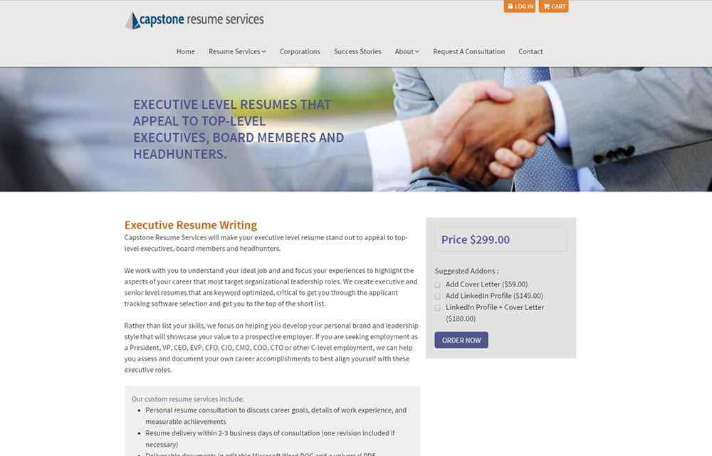 Certified Professional Resume Writers  Capstone Resume