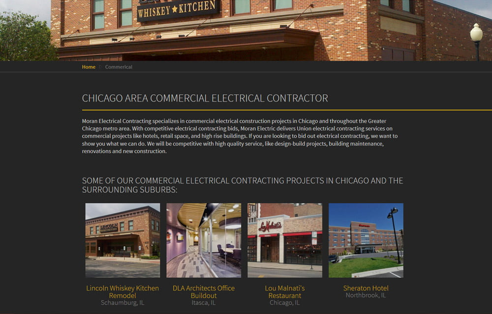 Electrical Contracting Website