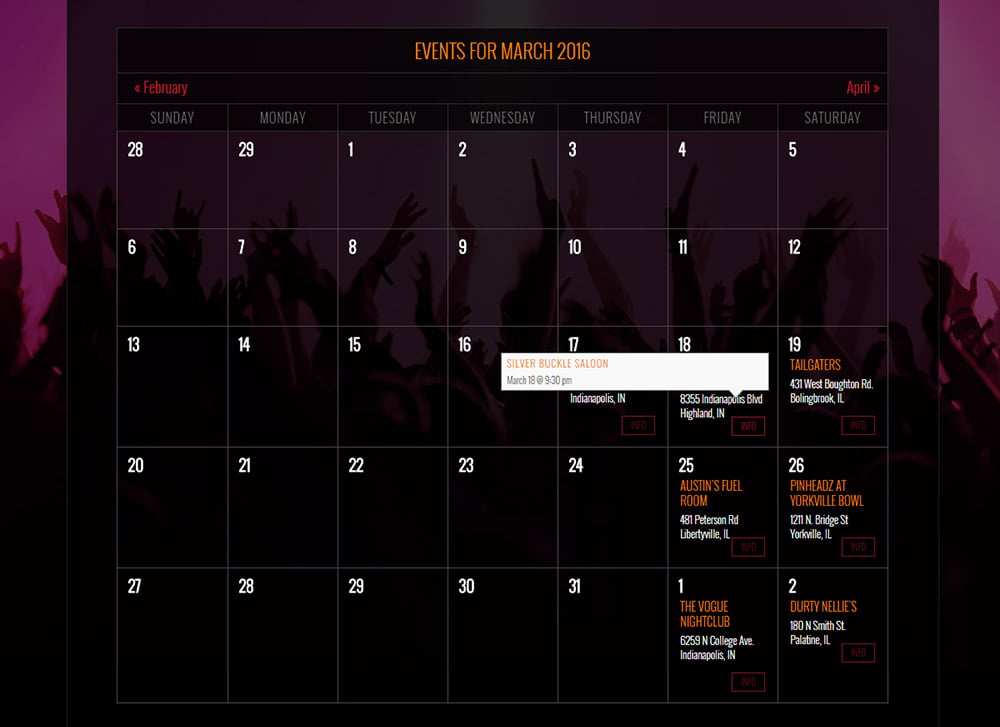 Hairbanger's Ball Calendar