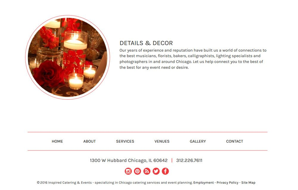 Inspired Catering & Events Website