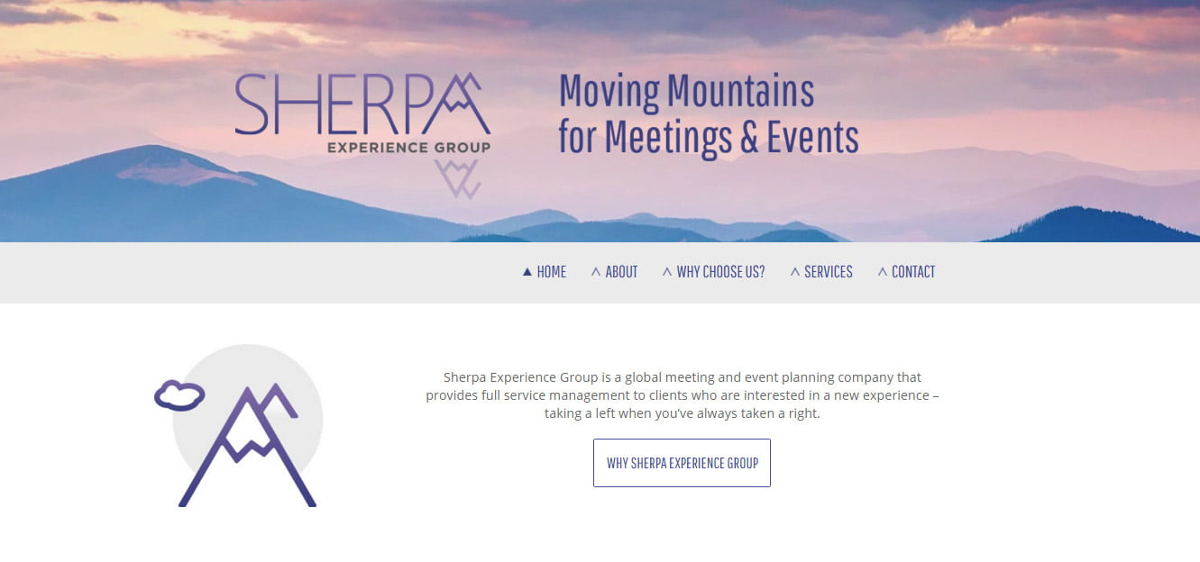 Sherpa Experience Group Homepage
