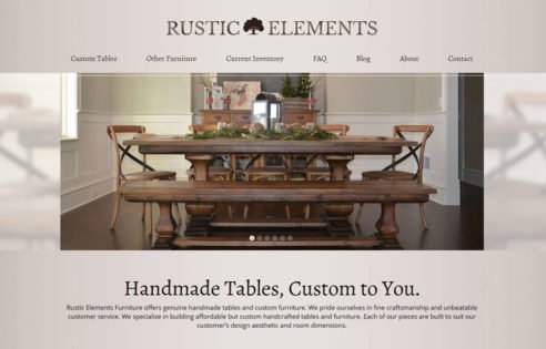 Web Presence For Rustic Elements Furniture, Rustic Elements Furniture