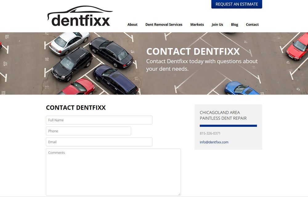 Dentfixx Website