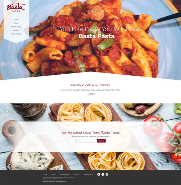 basta pasta website launch