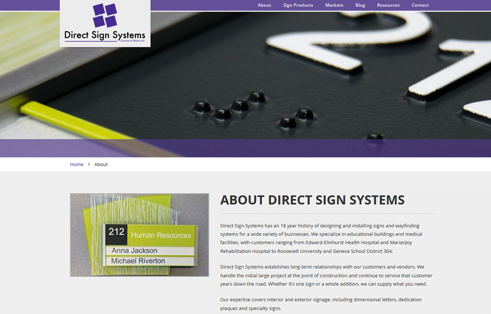 Direct Signs Website