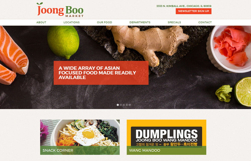 Joong Boo Market Website