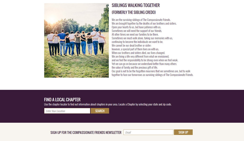 The Compassionate Friends Website