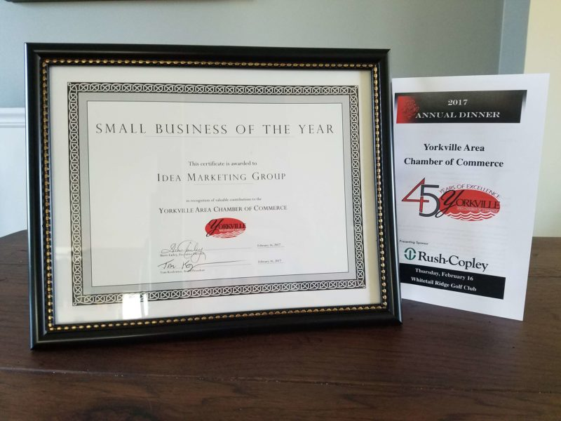 Chicago web design company wins Small Business of the Year