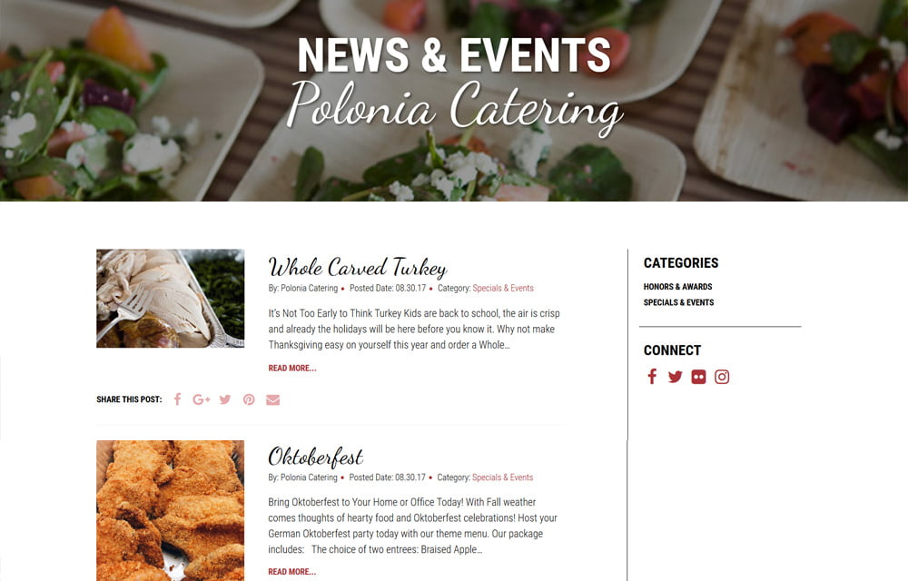 Polonia Catering Website