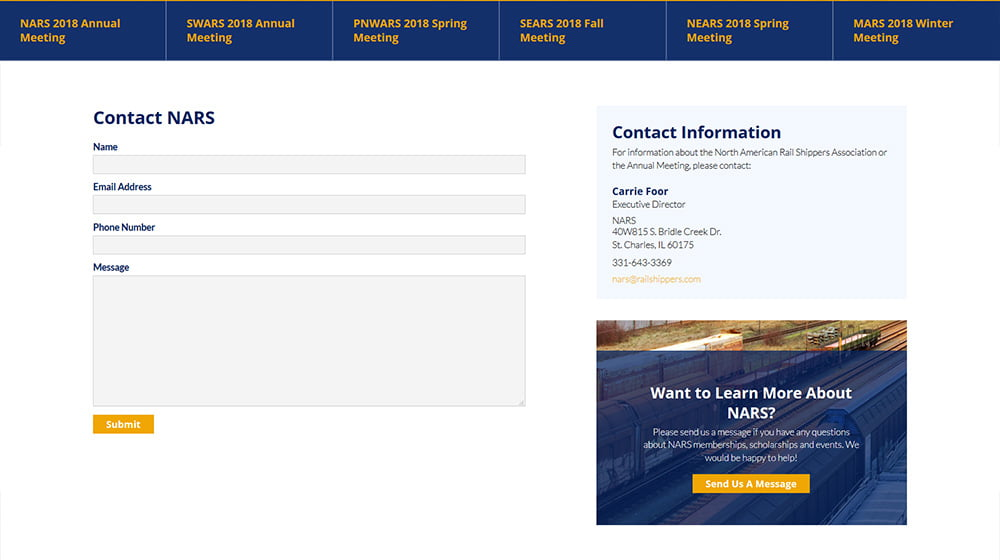 North American Rail Shippers Association Website