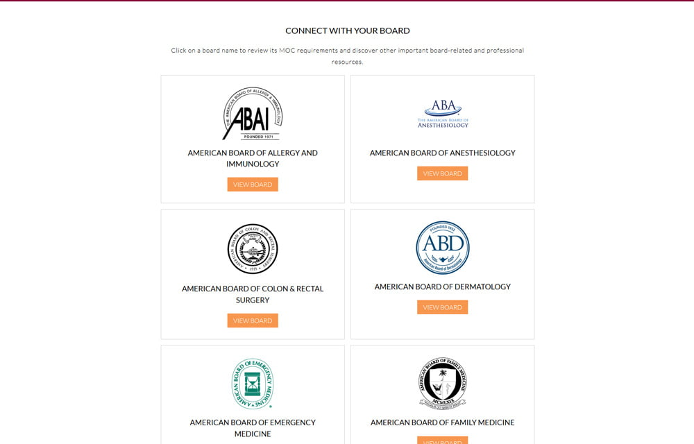 ABMS Continuing Certification Website