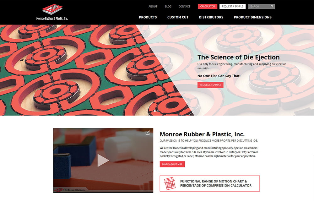 Monroe Rubber & Plastic Website