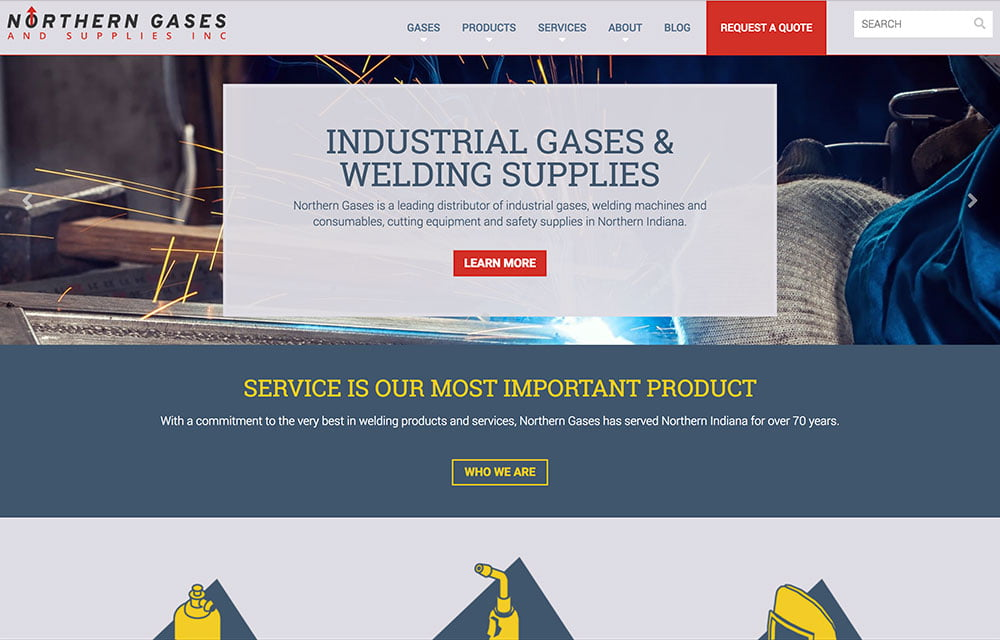 Northern Gases & Supplies Inc. Website