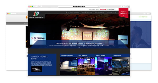 Event Industry Web Design