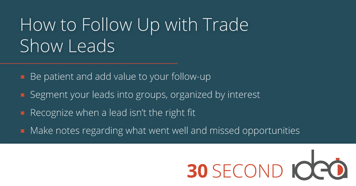 follow up with trade show leads
