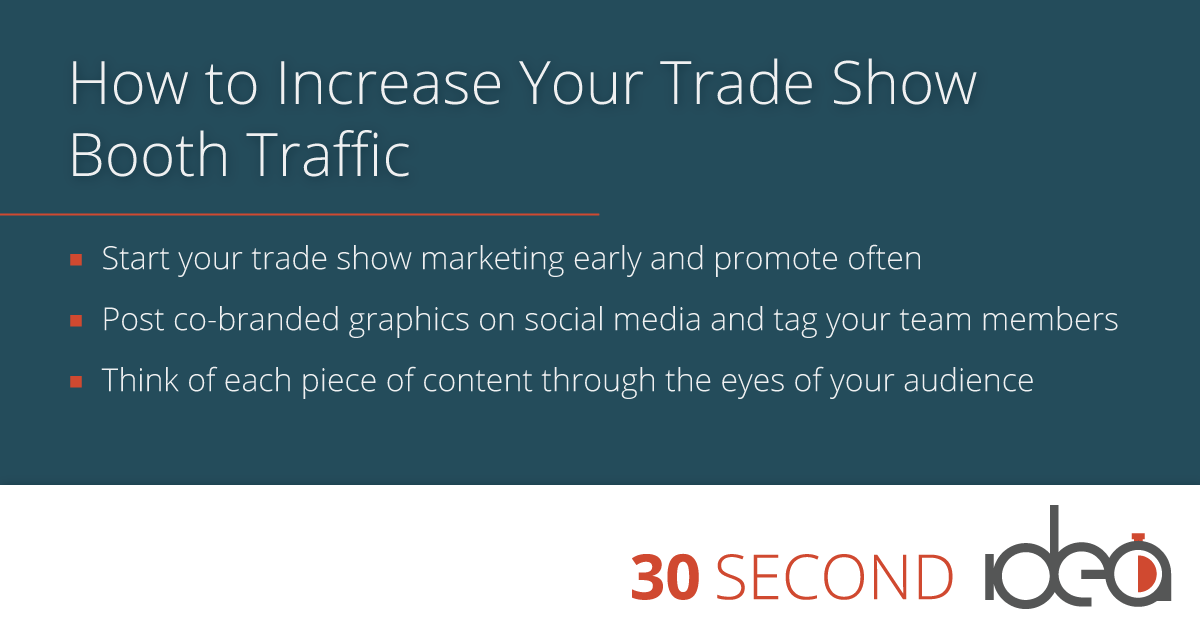 increase your trade show traffic