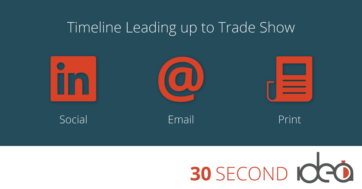 trade show timeline