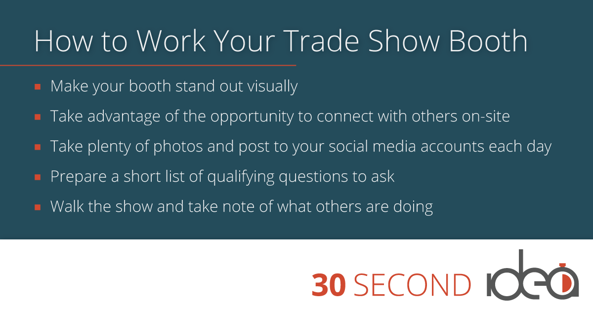 work your tradeshow
