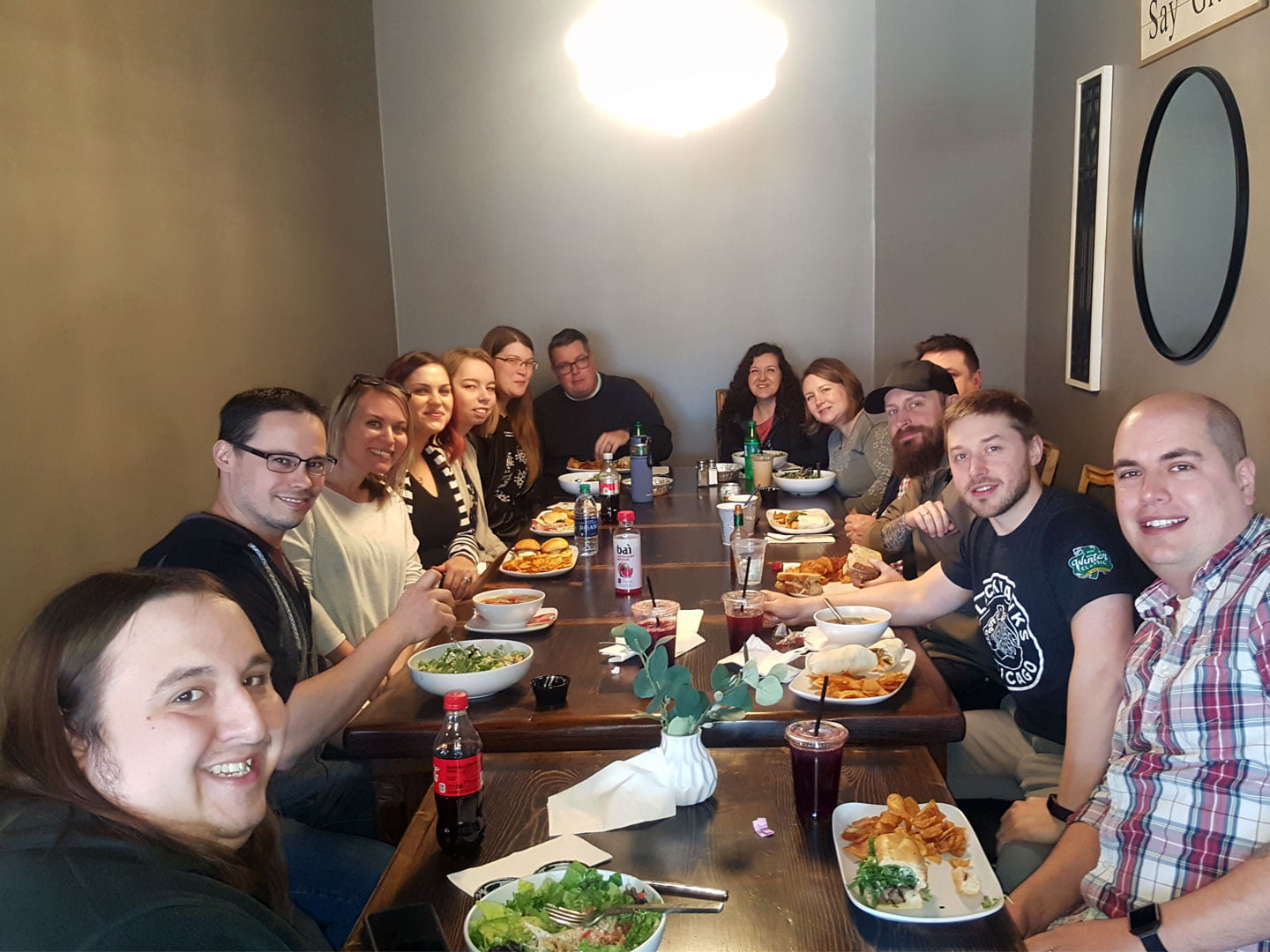 Idea Marketing Team at Lunch