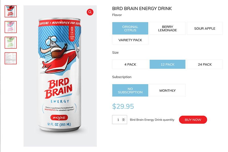 bird brain energy ecommerce