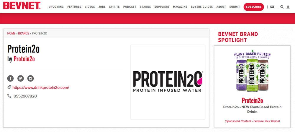 protein2o bevnet